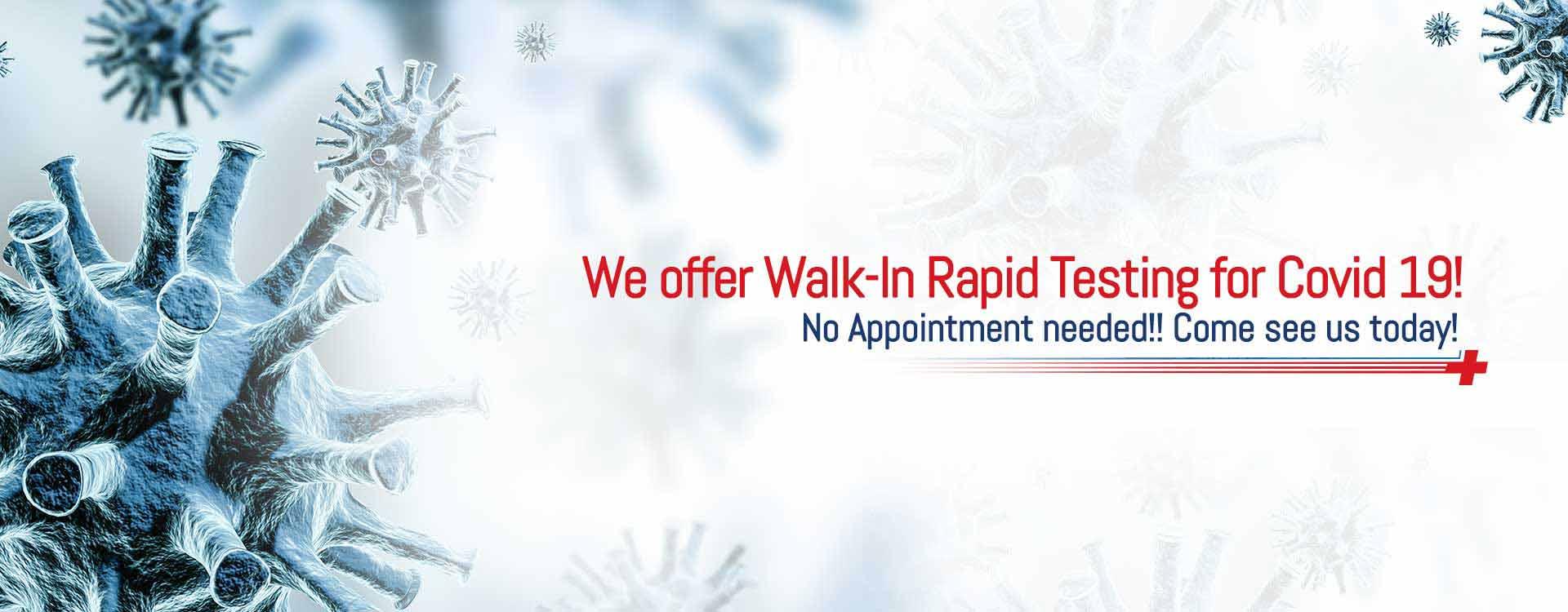 Walk in Rapid Covid Testing at Fast Aid Urgent Care in Bastrop, TX San Antonio, TX, And La Grange, TX